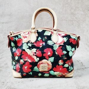 Dooney and Bourke Womans Floral Satchel/Crossbody